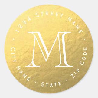 Het cirkel Gouden Etiket van het Adres van de