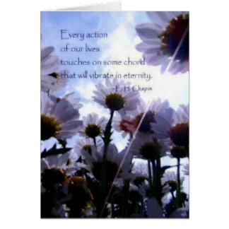 Het Citaat Daisy Floral van de eeuwigheid Briefkaarten 0