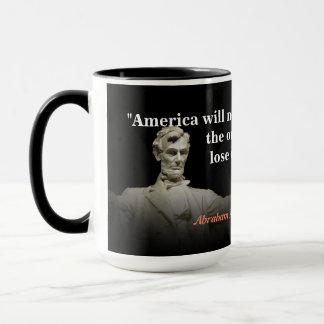 Het Citaat van Abraham Lincoln bij de Vernietiging Mok