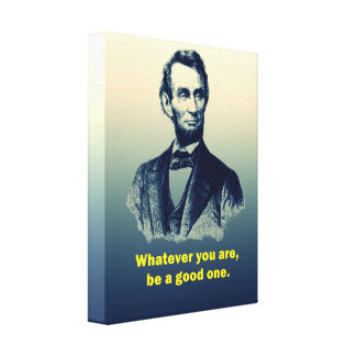Het Citaat van Abraham Lincoln Canvas Afdruk