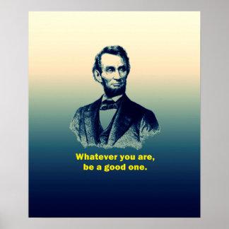 Het Citaat van Abraham Lincoln Poster