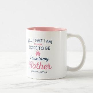 Het Citaat van Abraham Lincoln van de Moeder van Tweekleurige Koffiemok