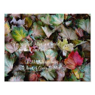 Het Citaat van Anne Shirley Oktober Foto Prints