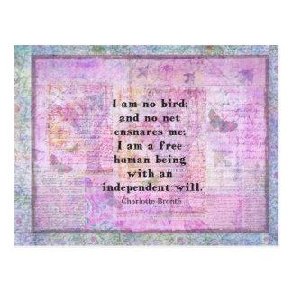 Het citaat van Charlotte Bronte over Briefkaart