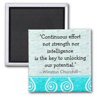 Het Citaat van Churchill - Motivatie Magneet