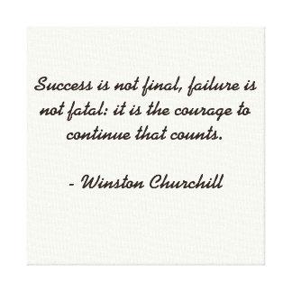 Het Citaat van Churchill van Winston Canvas Afdrukken