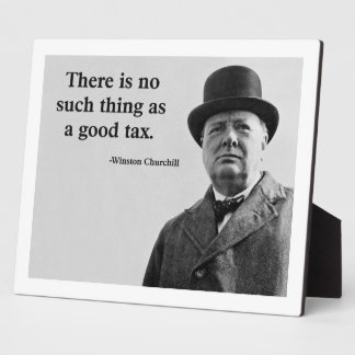 Het Citaat van Churchill van Winston Fotoplaat