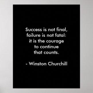 Het Citaat van Churchill van Winston; Succes Poster