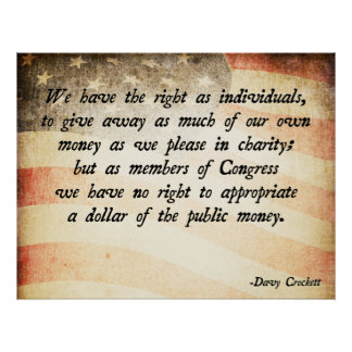 Het Citaat van Crockett van Davy Poster