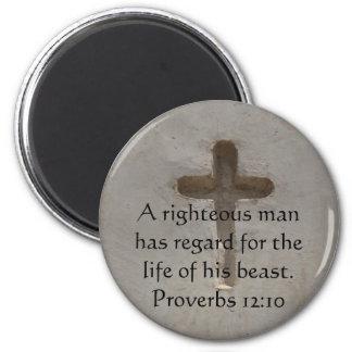 Het citaat van de bijbel over het Dierlijke 12:10  Magneet