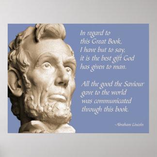 Het Citaat van de Bijbel van Lincoln Poster