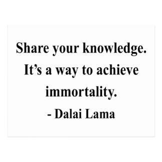 het citaat van de dalailama 5a briefkaart