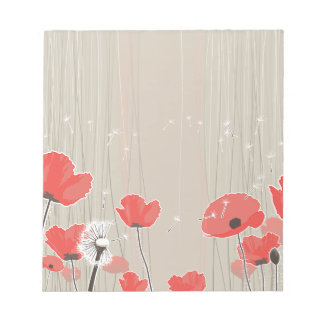 Het citaat van de de bloemenillustratie van de notitieblok