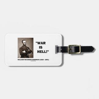 Het Citaat van de Hel van William Tecumseh Sherman Bagagelabel