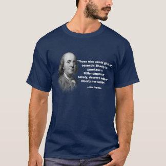 Het citaat van de het pistoolcontrole van Franklin T Shirt