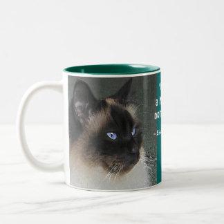 Het Citaat van de Kat en van het Kat van Ragdoll Tweekleurige Koffiemok
