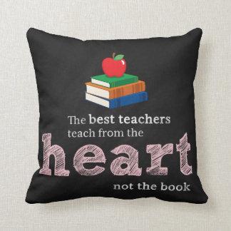 Het citaat van de leraar sierkussen