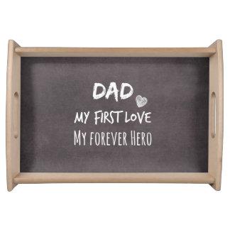 Het Citaat van de papa: Mijn Eerste Liefde, Mijn Dienblad
