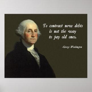 Het Citaat van de Schuld van George Washington Poster