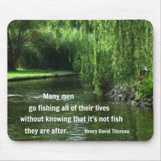 Het citaat van de visserij door H.D. Thoreau Muismatten