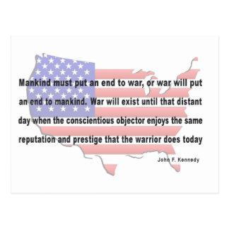 Het Citaat van de Vrede JFK Briefkaart