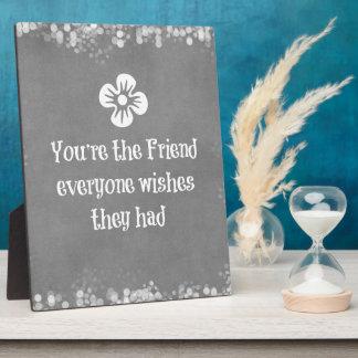 Het Citaat van de vriend Fotoplaat