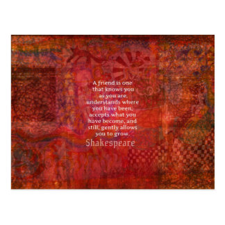 Het Citaat van de VRIENDSCHAP van Shakespeare Briefkaart