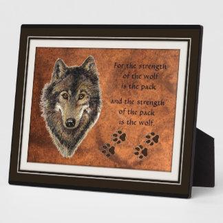 Het Citaat van de wolf en van het Pak Fotoplaat