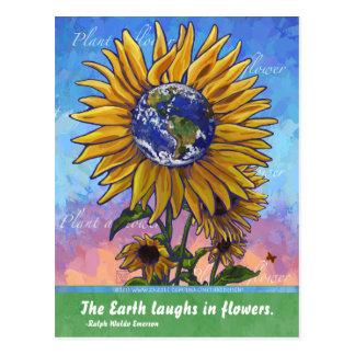 Het Citaat van de zonnebloem Briefkaart