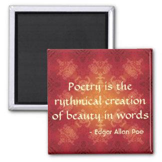 Het citaat van Edgar Allan Poe op Poëzie Magneet