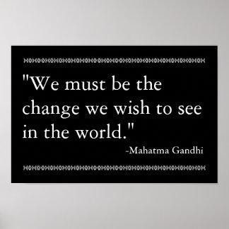 Het Citaat van Gandhi Poster