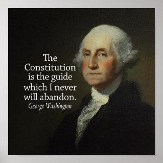 Het Citaat van George Washington op de Grondwet Poster