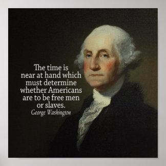Het Citaat van George Washington op de Slavernij Poster