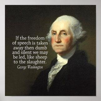 Het Citaat van George Washington op Vrijheid van Poster