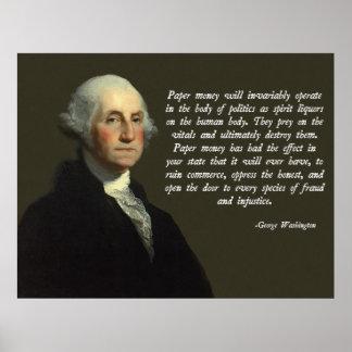 Het Citaat van het Geld van George Washington Poster
