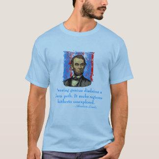 Het Citaat van het Genie van Abraham Lincoln T Shirt