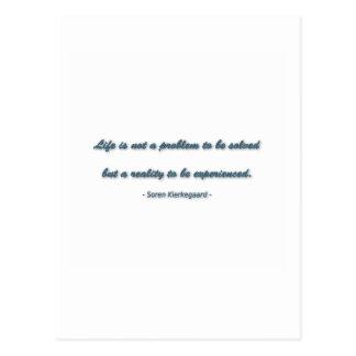 Het Citaat van het leven door Soren Kierkegaard - Briefkaart