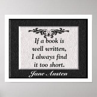Het Citaat van Jane Austen Poster