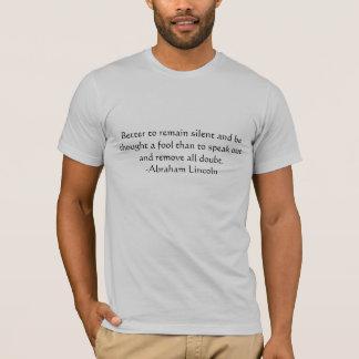Het Citaat van Lincoln T Shirt