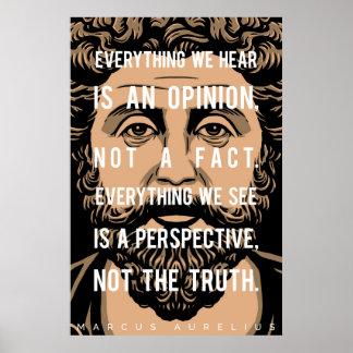 Het citaat van Marcus Aurelius: Alles horen wij Poster