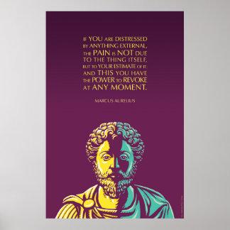 Het citaat van Marcus Aurelius: De bevoegdheid te Poster