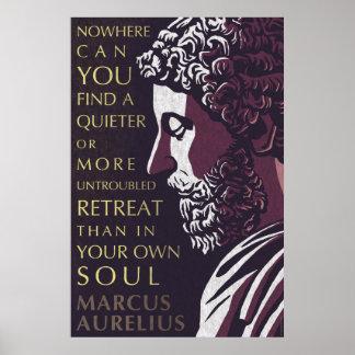 Het citaat van Marcus Aurelius: Stiller of meer Poster