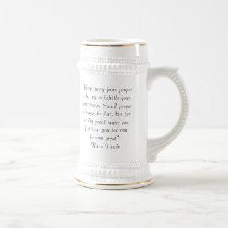 Het Citaat van Mark Twain Bierpul