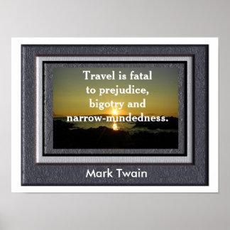 Het citaat van Mark Twain - Poster