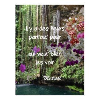 Het citaat van Matisse in het Frans Briefkaart