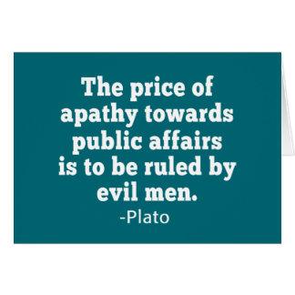Het Citaat van Plato op Apathie naar Politiek Kaart