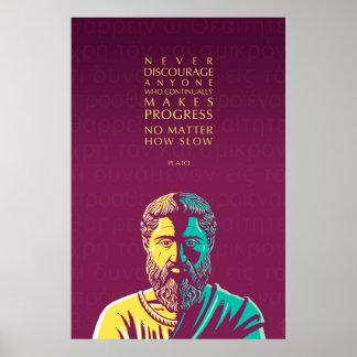 Het citaat van Plato: Vooruitgang Poster