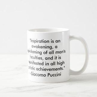 Het Citaat van Puccini Koffiemok