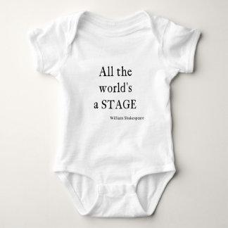 Het Citaat van Shakespeare Al Wereld een Stadium Romper