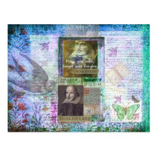 Het citaat van Shakespeare bij het leven en de Briefkaart